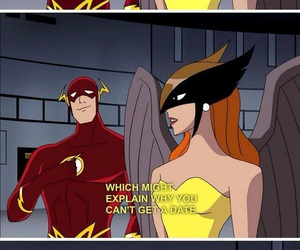 flash, hawkgirl, and DC image