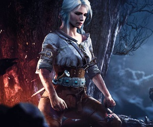 ciri and the witcher 3 image