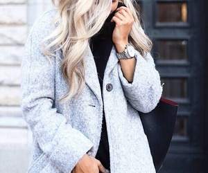 accessories, blonde, and curls image