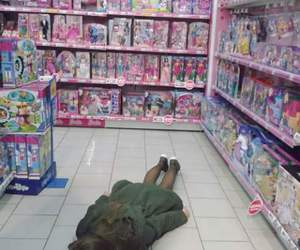 barbie, floor, and girl image
