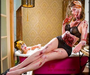 Pin Up and zombie image