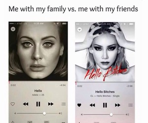 Adele, CL, and hello image