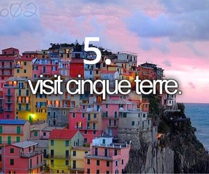 cinque terre, visit, and before i die image