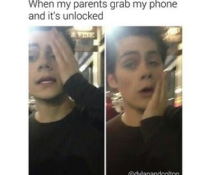 funny, dylan, and phone image