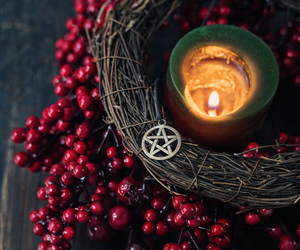 candle, pagan, and witch image