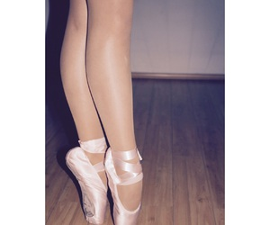 ballerina, ballet, and feet image