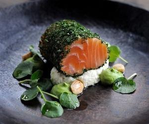 food, healthy, and fish image