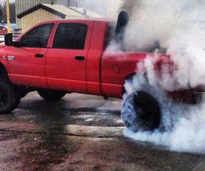 burnout, diesel, and truck image