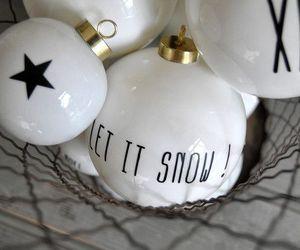 christmas, snow, and stars image