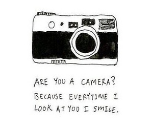 camera, smile, and quote image