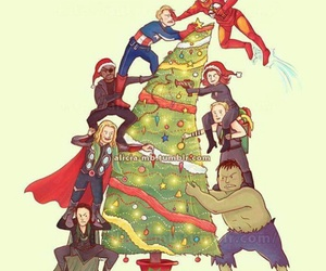 Avengers, captain america, and christmas image