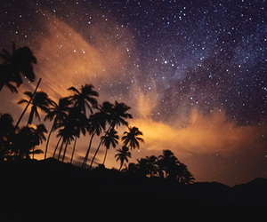 sky, beach, and night image