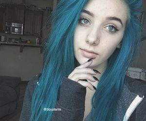 aesthetic, blue hair, and dyed hair image