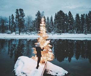 christmas, snow, and photography image