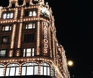 city, harrods, and lights image