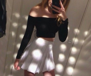 b&w, outfit, and picture image
