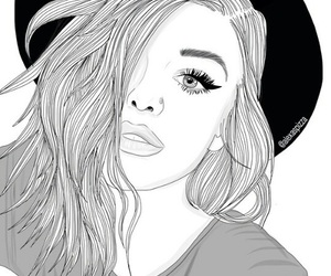 72 images about girls black and white drawings on we heart it see