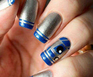 nails, star wars, and r2d2 image
