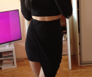 belly, clothes, and dress image