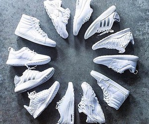 shoes, white, and adidas image