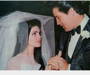 elvis, wedding, and couple image