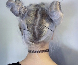 grunge, silver, and hair image