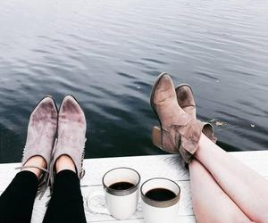 shoes, coffee, and friends image