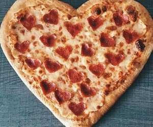 pizza, food, and heart image