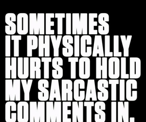 comment, quotes, and sarcasm image