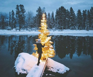 christmas, snow, and photography image