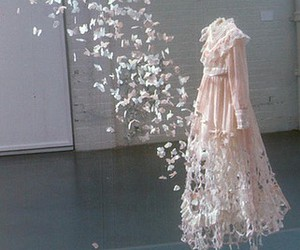 dress, butterfly, and art image