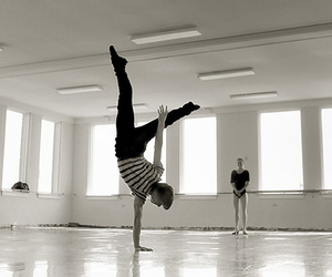 black and white, boy, and dance image
