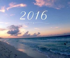 2016, beach, and california image