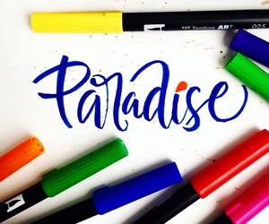 brush, colors, and handlettering image