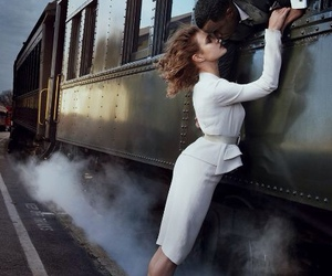 love, train, and kiss image