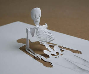 skeleton, Paper, and art image