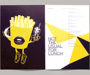 brochure, illustration, and typography image