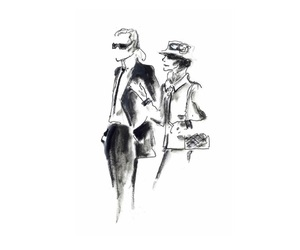 b&w, annawintour, and karllagerfeld image