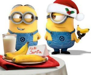 minions, banana, and christmas image