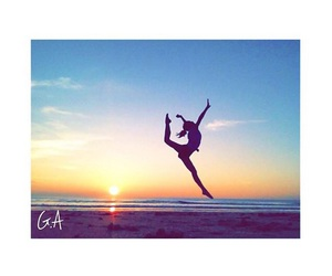 beach, cheer, and flexibility image