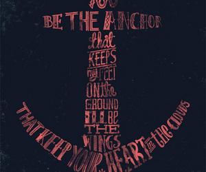 anchor, mayday parade, and text image