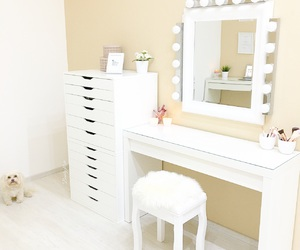 make-up, vanity, and beautyroom image
