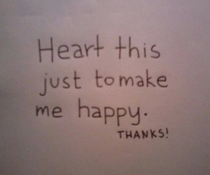 happy, heart, and thanks image
