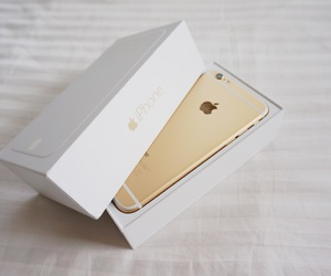gold, iphone, and new image