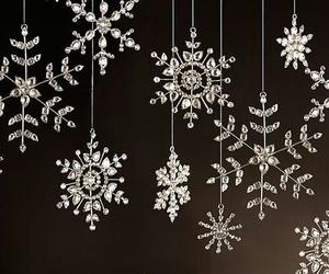 christmas, snowflake, and white image