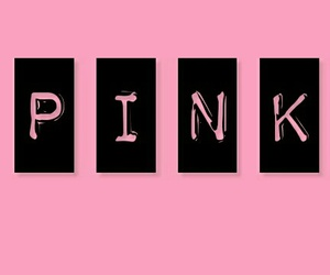 black, girly, and pink image
