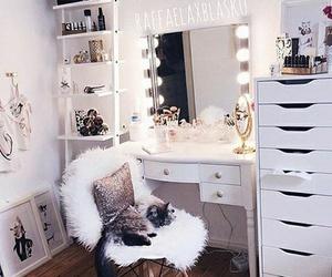 room, bedroom, and makeup image