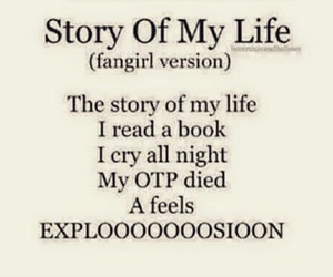 story of my life, book, and fangirl image