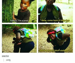 funny, hunger games, and rue image
