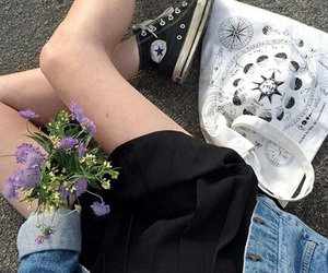grunge, flowers, and indie image